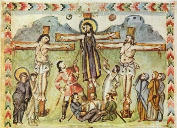 Jesus on the cross freize